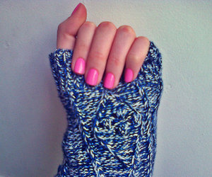 blue, fashion, and fingers image