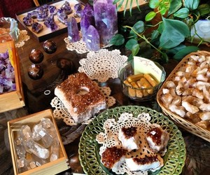 amethyst, citrine, and crystals image