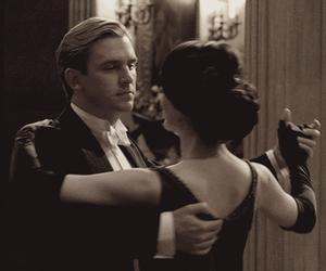 dan stevens, lady mary crawley, and downton abbey image