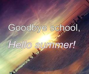 summer, school, and hello image