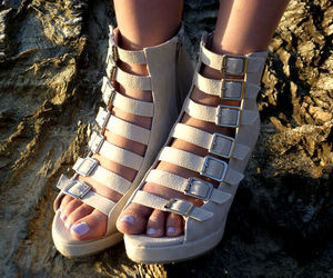 fashion, wedges, and heels image