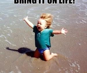 life, funny, and beach image