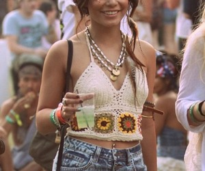 vanessa hudgens, hippie, and festival image