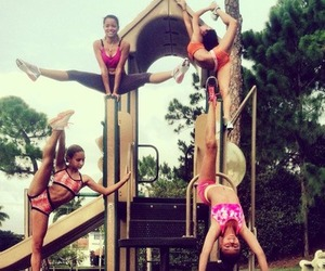 Cheerleaders, scorpion, and flexibility image