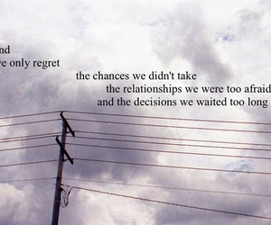 quote, regret, and chances image
