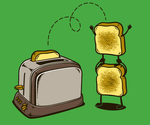 toast, funny, and food image