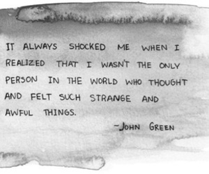 book, john green, and text image