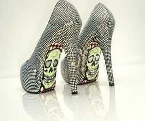 punk, shoes, and skull image