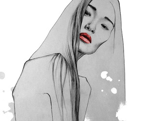 art, asian, and beauty image