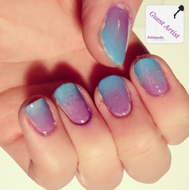 Lavender and Blue Ombre Nails