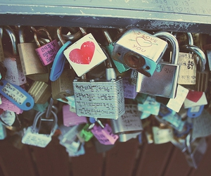 love, lock, and heart image