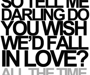 darling, all the time, and typography image