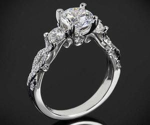 diamond ring, diamonds, and engagement image