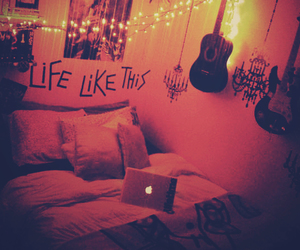 guitar, bedroom, and life image