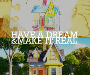 Dream, up, and house image