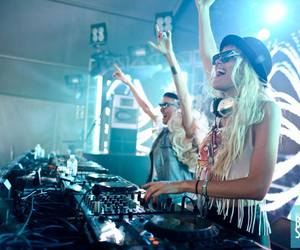 nervo, dj, and girl image