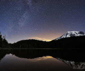 milky way, washington, and mountain image
