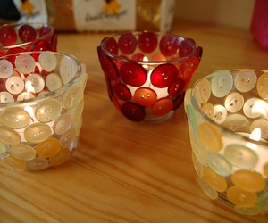 buttons, candles, and craft image