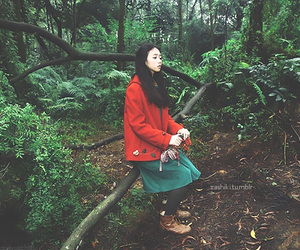 asian fashion, japanese fashion, and forest girl image