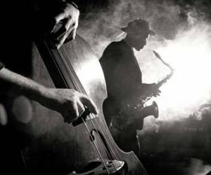 b&w, black and white, and music image