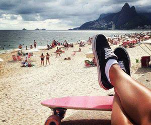 beach, skate, and summer image