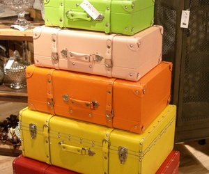suitcases colorful image