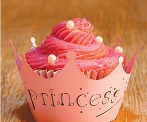 cupcake, princess, and pink image