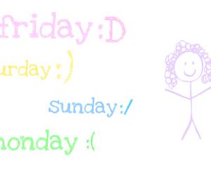 friday, saturday, and Sunday image