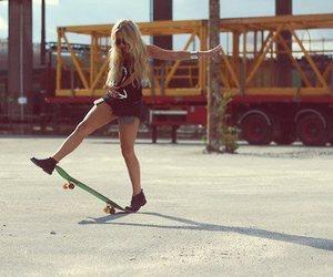 girl, skate, and blonde image