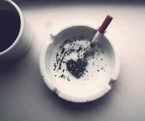 cigarette, coffee, and heart image