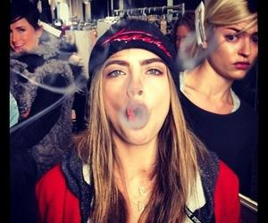 model, cara delevingne, and smoke image
