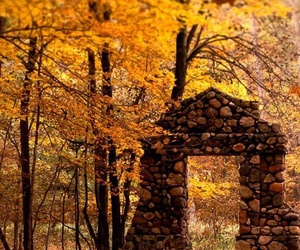 autumn and ruins image