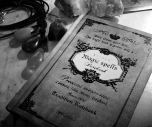 spell, book, and magic image