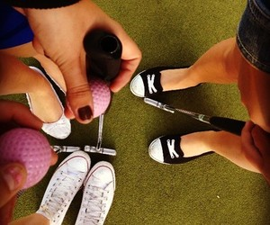 ball, converse, and girls image
