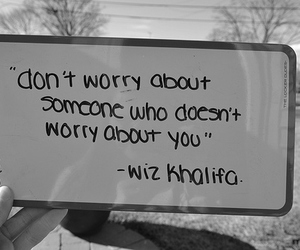 quote, wiz khalifa, and worry image