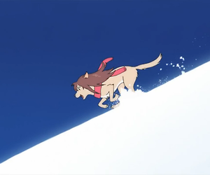 anime, the wolf children, and ame and yuki image