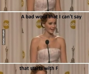 awesome, Jennifer Lawrence, and lol image