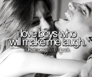 love, laugh, and boy image
