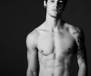 black and white, guy, and sexy image