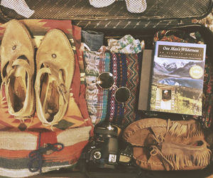 travel, book, and hippie image