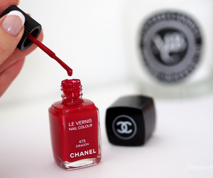 chanel, red, and nails image