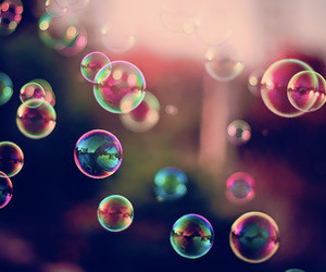 beautiful, bubbles, and colors image