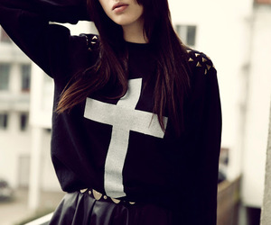 fashion, cross, and outfit image