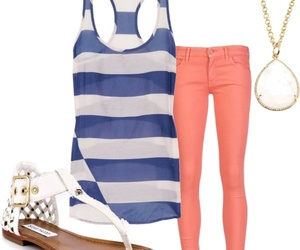 outfit, sandals, and summer image