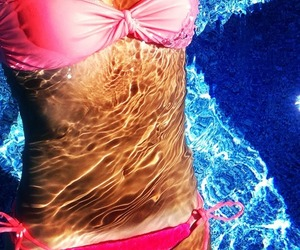 beach, summer, and tanning image