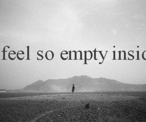 empty, sad, and inside image