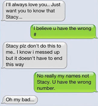 22 Hysterical Wrong Number Texts   SMOSH on We Heart It