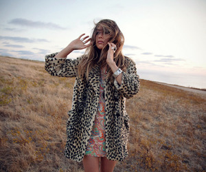 girl, fashion, and leopard image
