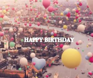 balloons, birthday, and city image