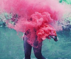 chanel, pink, and smoke image